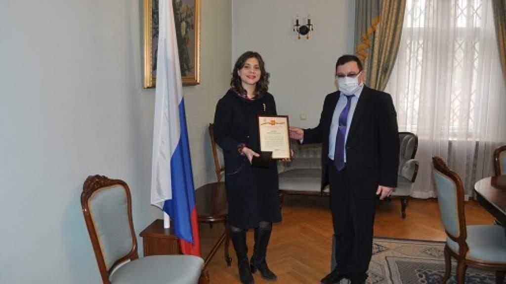 В Посольстве России в Латвии вручили награды соотечественникам