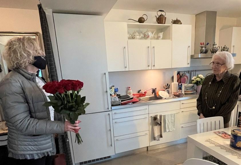 Жительнице Таллина Лидии Лайне Танкманн сегодня исполнился 101 год