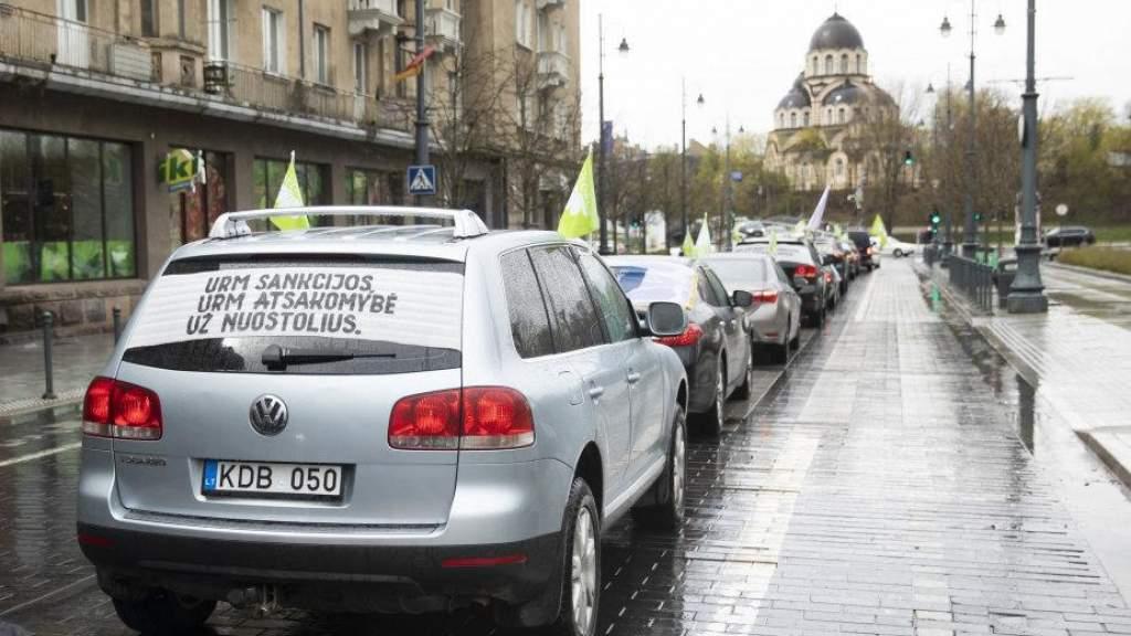 Работники Belorus протестуют в Вильнюсе, МИД обещает добиваться перенятия санатория