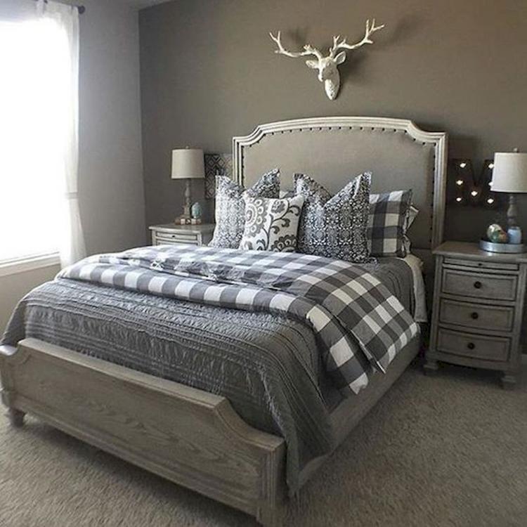 Grey Headboard Bedroom Decor Ideas Novocom Top
