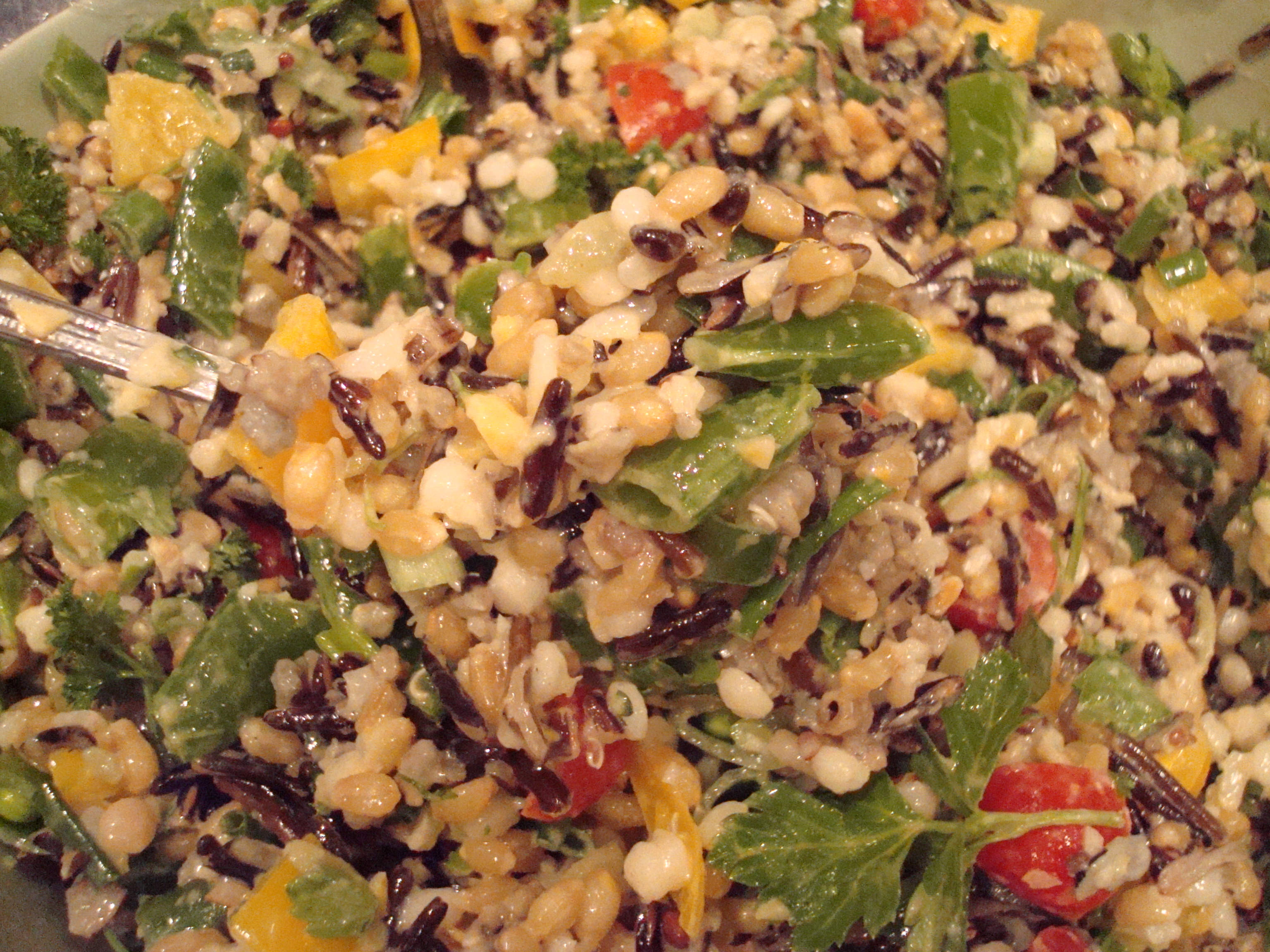 Three Grain Salad Primavera with Lemon Vinaigrette