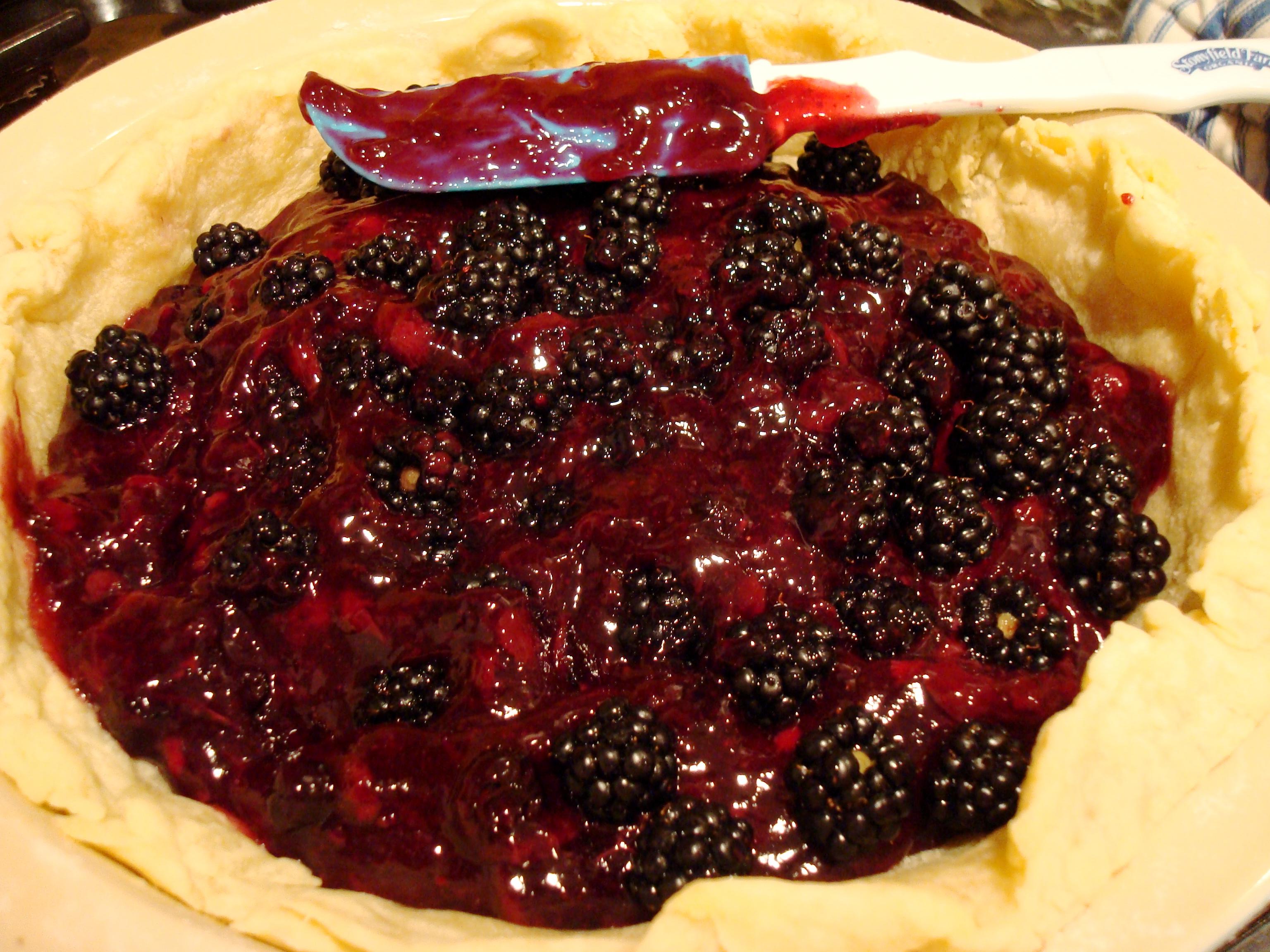 My blueberry blackberry homemade butter crust creation.