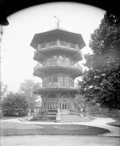 Observatory, Patterson Park, by Detroit Publishing Company, c1903. Library of Congress, LC-DIG-det-4a10956.