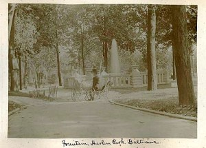 Harlem Park, c. 1895. Courtesy Maryland Historical Society, SVF.