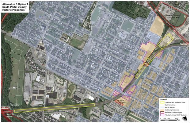 Alternative 3 Option A, South Portal Map