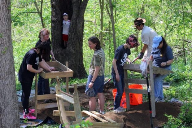 Herring Run Archaeology Project, 2016 April 26.