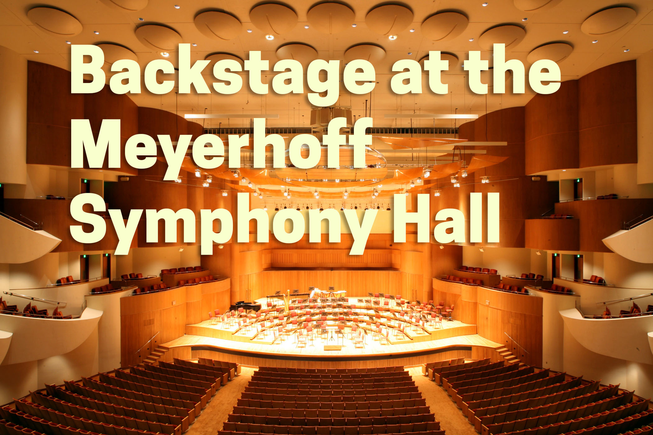 Interior view of the Meyerhoff Symphony Hall.