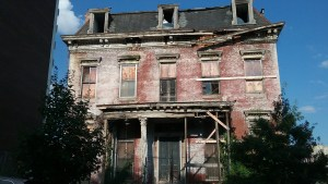 Vacant and derelict free standing Victorian mansion