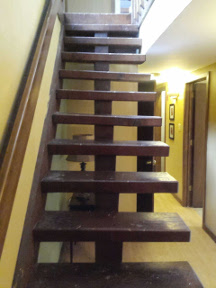 A plethora of stair defects.