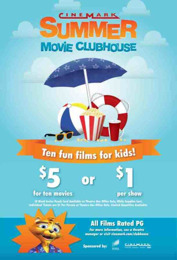 Summer Movie Clubhouse at Cinemark 2018