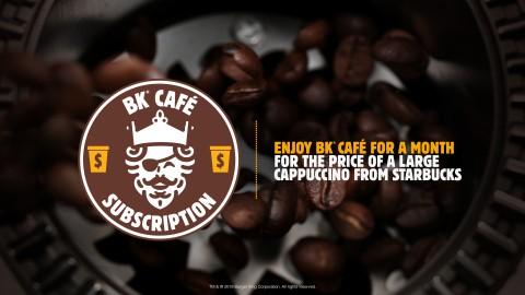 Burger King cafe coffee