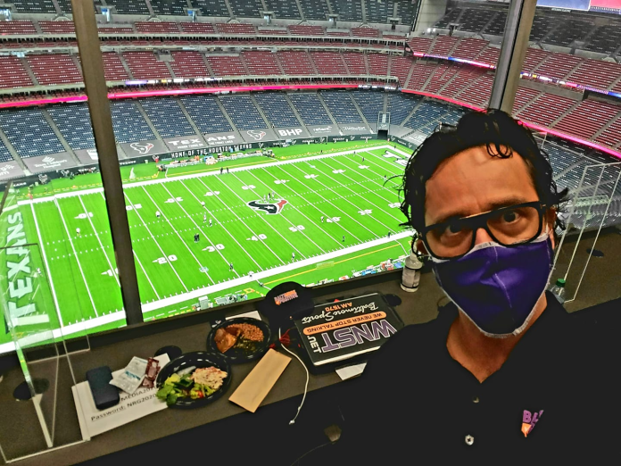 What I learned sitting on the roof in Houston and watching Ravens beat Texans in an empty stadium