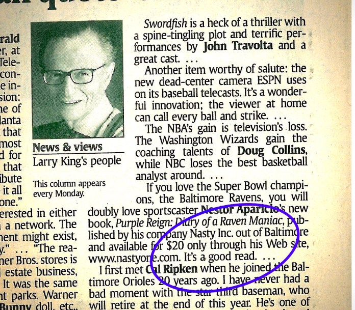 """That time Larry King called my book """"a good read"""" and discussed history of Orioles baseball"""