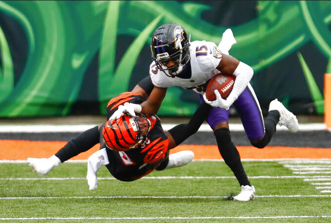 How did Ravens wide receivers stack up to rest of NFL in 2020?