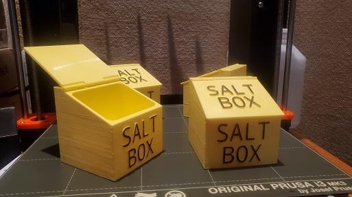 Plastic Saltbox With Hinge