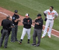 Manny Machado and Buck Showalter