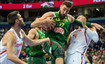Gibt für Litauen unter dem Korb immer alles: Jonas Valanciunas.