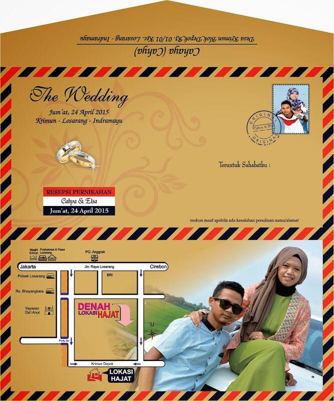 desain undangan pernikahan seperti amlop