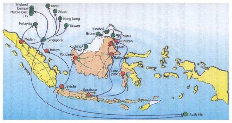 pengaruh letak geografi indonesia terhadap jalur perdagangan
