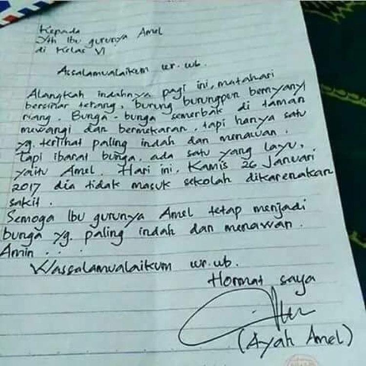 contoh surat izin tulis tangan