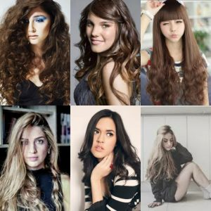 model rambut keriting panjang