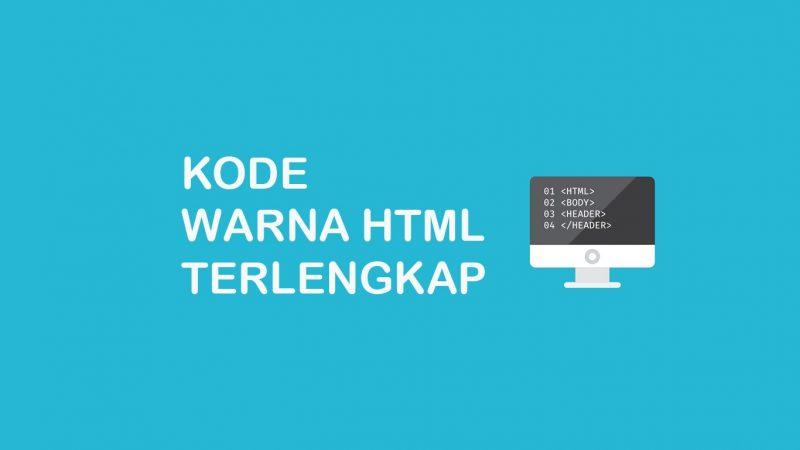 kumpulan kode warna html dan css