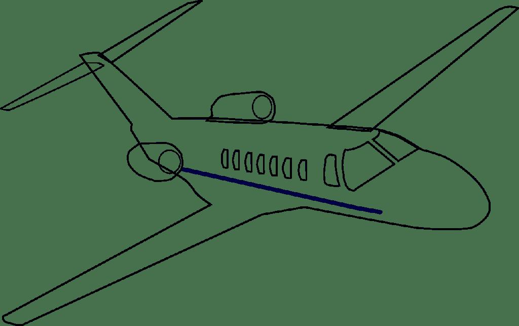 airplane, jet, business