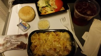 Not a bad dinner on the airplan