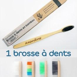 1 brosse à dents avec multi couleurs