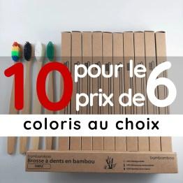 10 brosses à dents pour le prix de 6