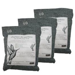 3 sacs charbon de bambou 800
