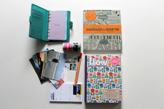 Zutaten für ein DIY-Filofax