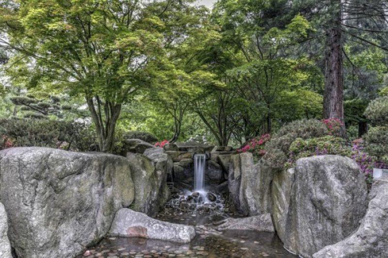 cascata al parco botanico di amburgo