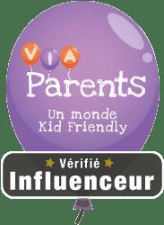 Logo influenceur vérifié viaparents