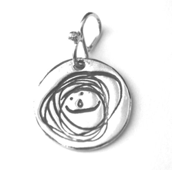 Pure Silver 'Doodle' Tag