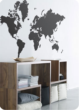 Worldmap Wallsticker by Ferm Living