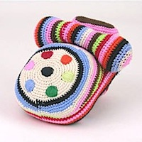 Anne-Claire Petit Hand Knitted Stripey Telephone