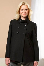 Hot Maternity Coat Alert! Military Jacket from M&S