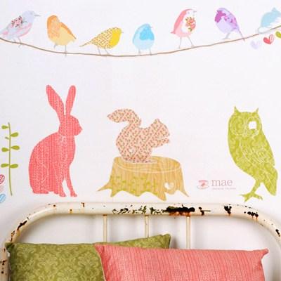 Love Mae Fabric Wall Stickers
