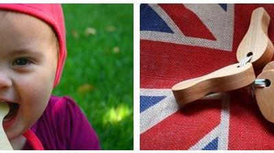 Little Alouette Natural Wood Teethers