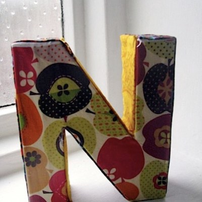Make Your Own – Fabric Covered Letters