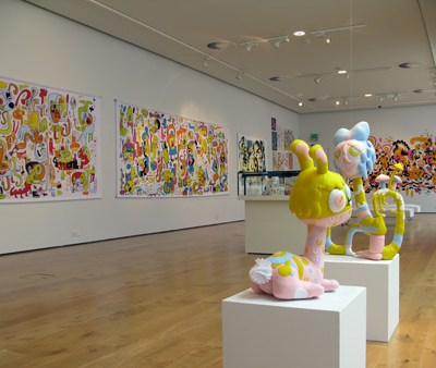 Jon Burgerman Brain Drain Exhibition