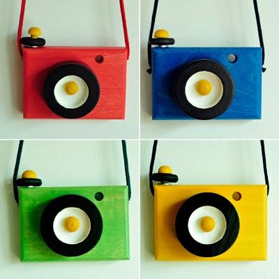 Wooden Toy Cameras from Annasusanna Peter und Hanna