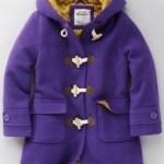 Funky duffle coat in purple by Boden