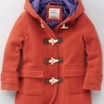 Funky duffle coat in pumpkin by Boden
