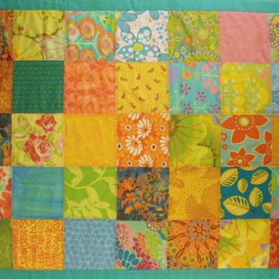 Lemon-Pink baby quilts and cot blankets