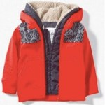 Red coat for boys with removable lining from Zara Kids