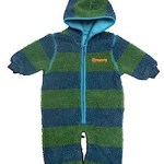 Katvig pram suit and stroller suit green and blue stripe