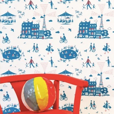 Famille Summerbelle 'Un Dimanche à Paris' Wallpaper