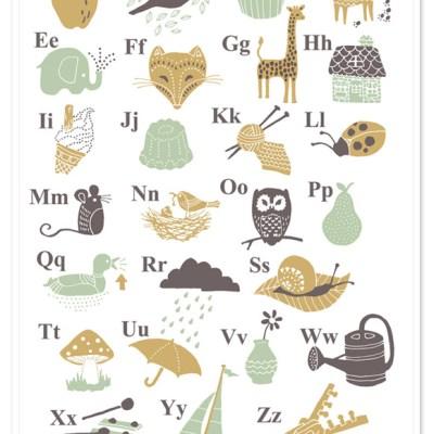 Solitaire alphabet print
